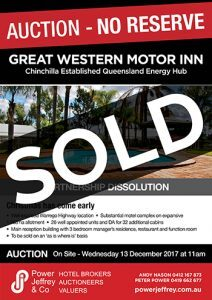Great Western Motor Inn Chinchilla Sold