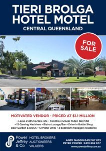 Tieri Brolga Hotel Motel For Sale Central Queensland