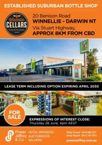 Winnellie Cellars Bottle Shop For Sale Darwin NT