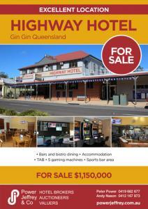 Highway Hotel For Sale Gin Gin