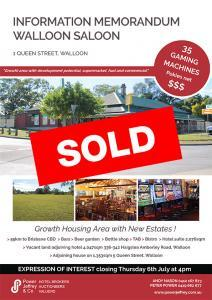 Walloon Saloon Sold