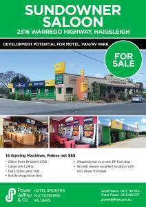 Sundowner Saloon Haigslea For Sale