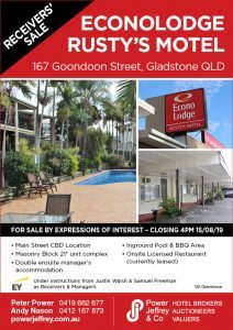Econolodge Rusty's Motel Gladstone For Sale