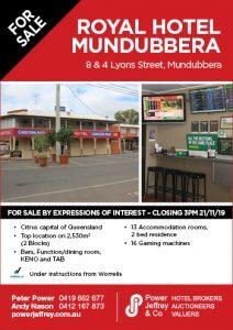 Royal Hotel Mundubbera For Sale