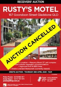 Rusty's Motel Gladstone Auction