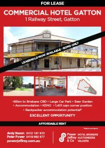 Commercial Hotel Gatton For Lease